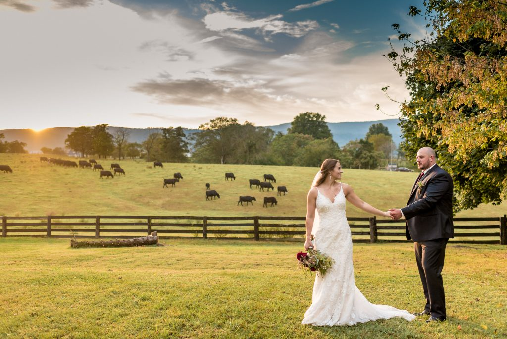 beautiful wedding photo at rivercrest farm in elkton