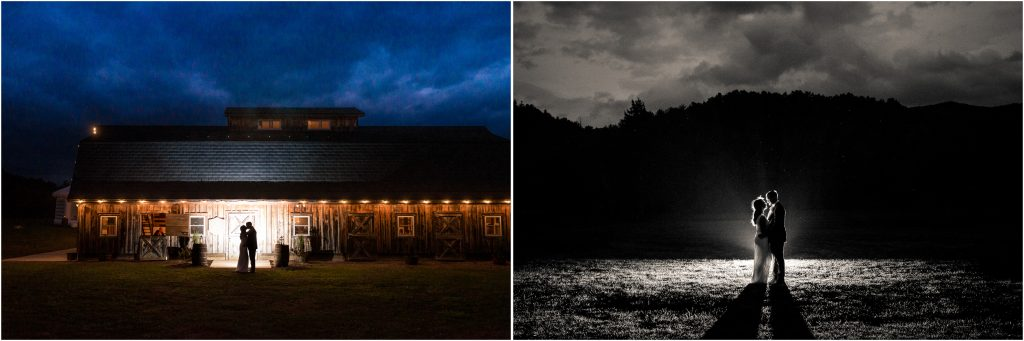awesome night time photos from farm at glen haven wedding