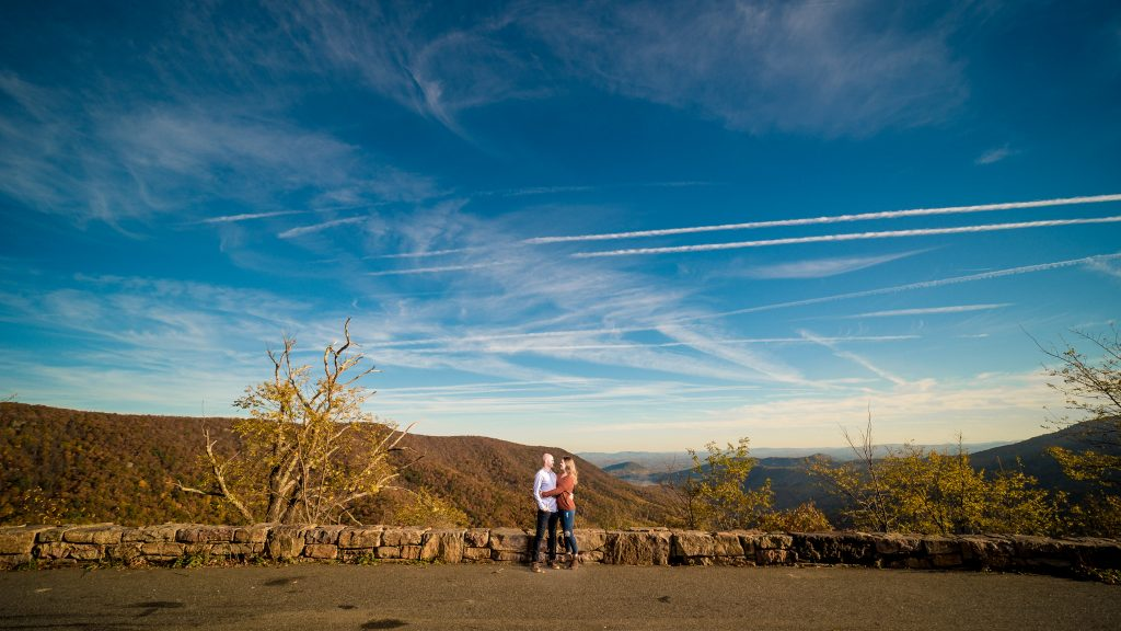 skyline drive engagement photos