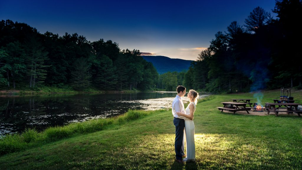 Night Photo at Montfair Resort Farm Wedding
